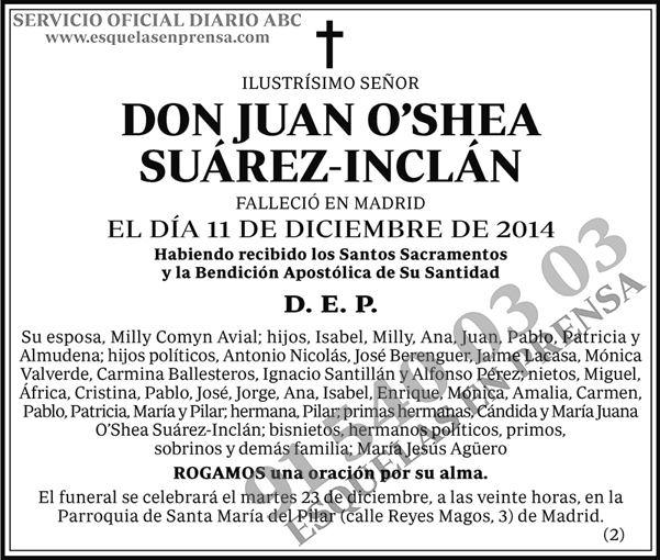 Juan O´Shea Suárez-Inclán
